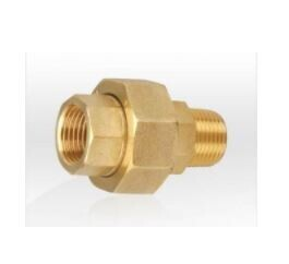 BRASS MALE / FEMALE UNION (PTFE SEAL)