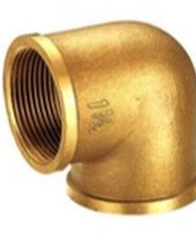 BRASS THREADED ELBOW