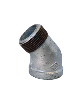 GALVANISED MALE / FEMALE 45° ELBOW