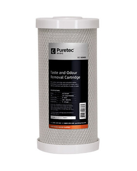 "EC SERIES JUMBO 10"" TASTE & ODOUR REMOVAL CARBON BLOCK / COCONUT CARBON CARTRIDGE"
