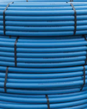 25mm Blue MDPE Medium Density Polyethylene Water Main Pipe