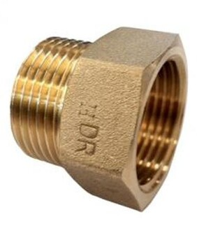 BRASS REDUCING HEX SOCKET M/F