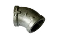 GALVANISED FEMALE 45° ELBOW